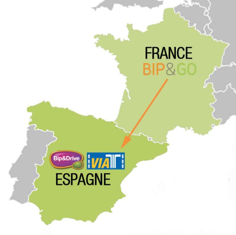 Carte France-Espagne